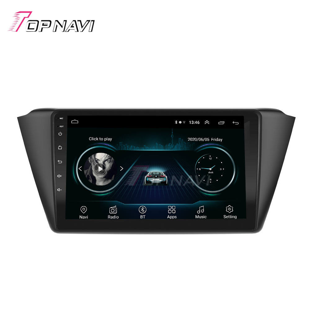 Top navi New Arrival Auto Electronics Car DVD Payer Navig GPS for Skoda Fabia 2015-2019 Auto Radio Android 9.0