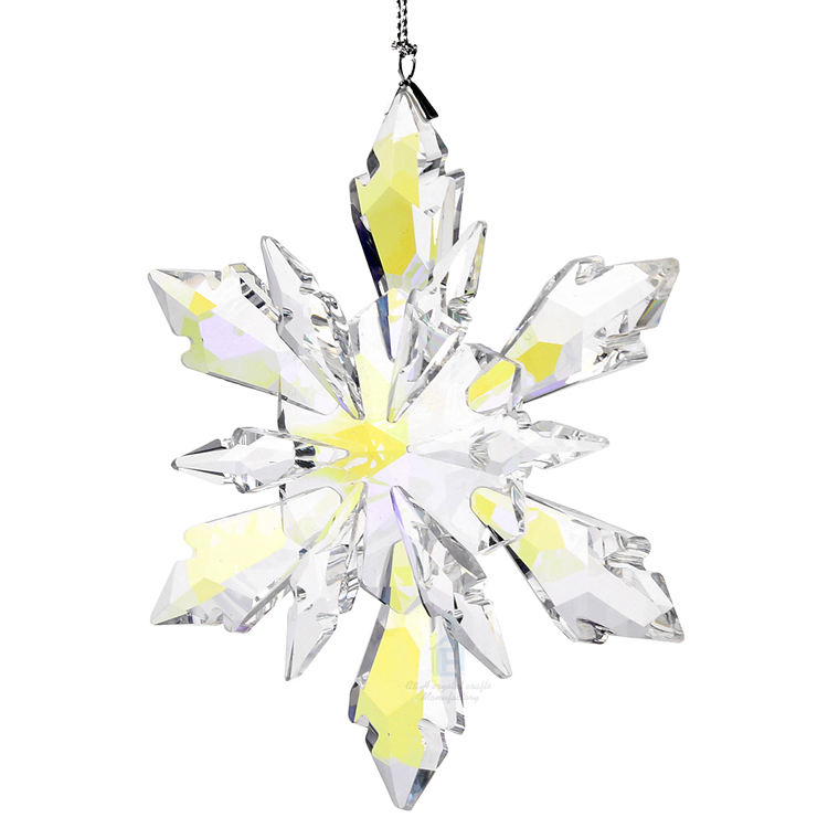 K9 Crystal Christmas Snowflake Pendant, Crystal Glass Shiny and sparkly Pendant For Home&Festive Decor