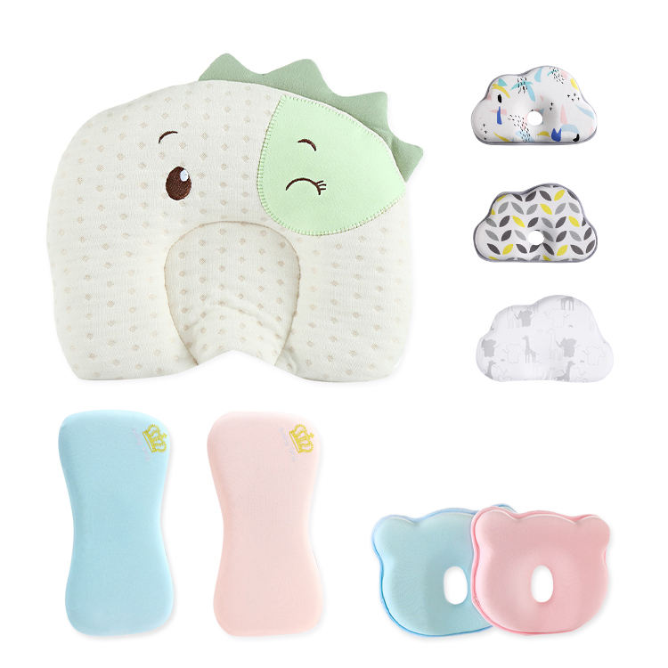 Soft Protective Anti flat Head Organic Cotton Newborn Crib Sleeping Infant Head Shaping Baby Pillow