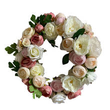 Home hang decoration artificial flower wreath supplies wholesale