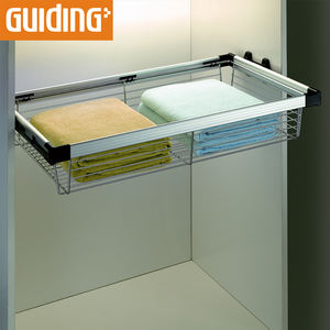 Wardrobe pull out rectangular storage wire baskets
