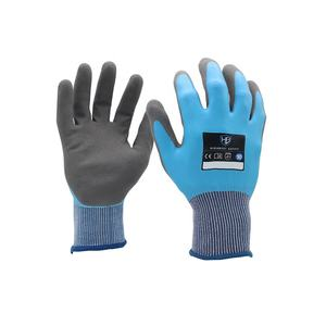 A LDOU542 High quality latex fishing safety gloves with latex sandy palm coated anti slip good grip for fishing