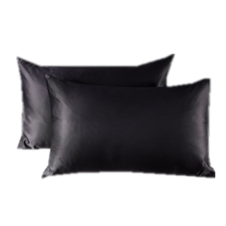 Wholesale Custom Organic Satin Silk Pillowcase for Hair and Skin 100% Pure Mulberry Black Silk Pillow Case