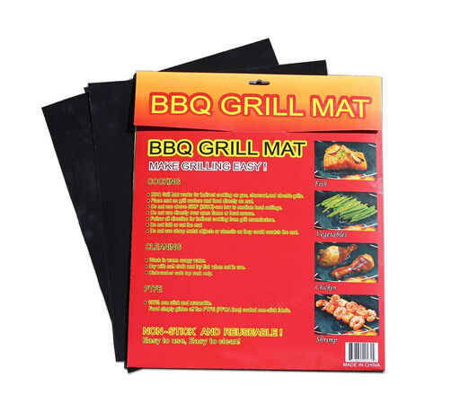 Amazon Hot Sale Reusable BBQ Grill Mats High Quality PTFE Coated Non-stick Grill Sheet Baking Mat for BBQ