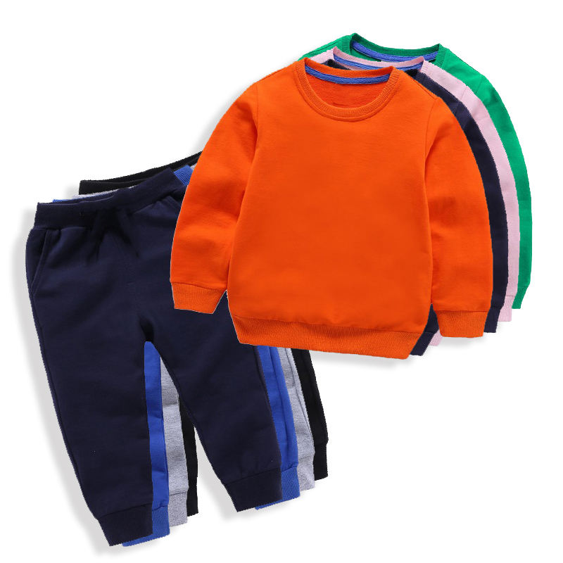 100% Cotton Tops Shirts And Sweat Pants Boys Clothes Sets Children's Clothing Sets