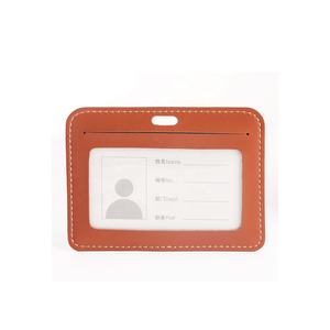 Double sides visible customized logo and four color available PU leather card holder