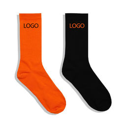 Cheap wholesale oem designer custom design your own logo men crew sports socks custom bamboo cotton black sock for man