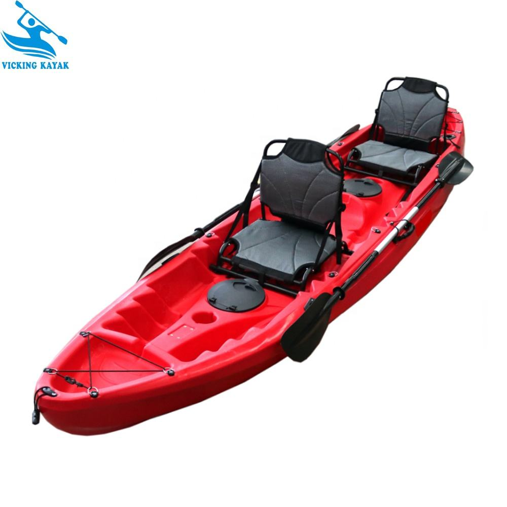 12' Tandem kayak 2 person kayak made in China Sit On Top sea Fishing Kayak with 2 Up-Ri for sale