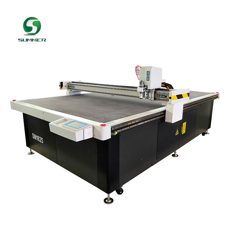 corrugated cardboard cutting creasing machine for carton box making with scoring wheel and oscillator blade knife