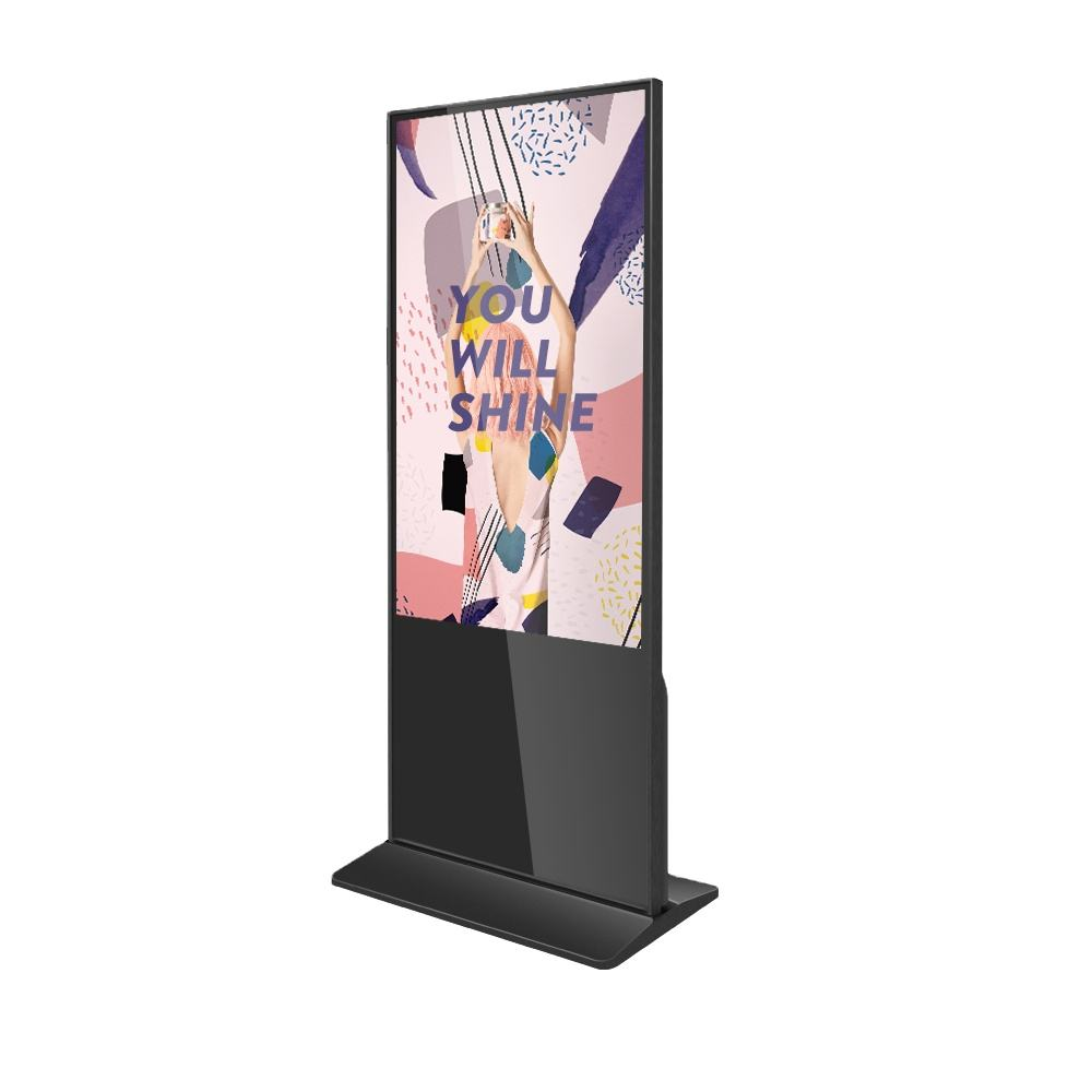 Refee 43 49 55 65 inch vertical touch kiosk totem LCD digital signage display advertising screens indoor android PC windows