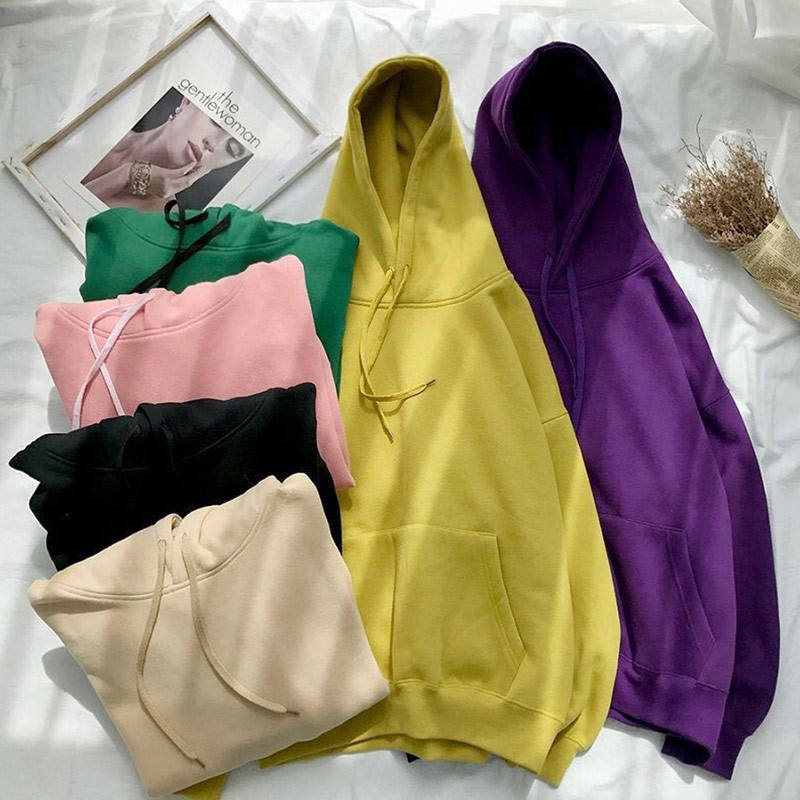 2020 High Quality Men's and Women's Unisex 50% Cotton 50% Polyester Solid Color Blank Hoodie