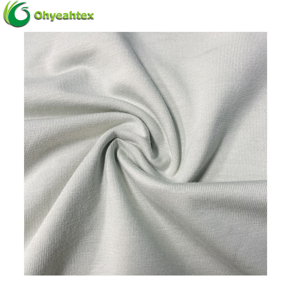 Moisture Wicking Knit Jersey Elastic Cotton Spandex Fabric For T-shirt