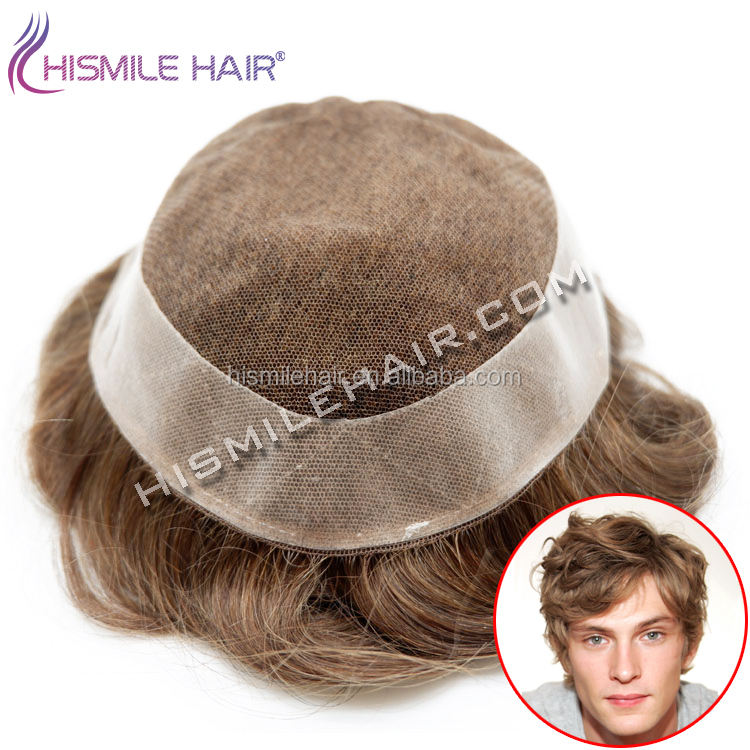 Swiss Lace Human Hair Replacement, Lace Front Men's Toupee Wig