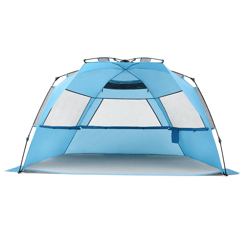 Beach Tent Sun Shelter Family 5 Person Pop Up Sun Shades Outdoor, Tents Outdoor Beach Wind Tent