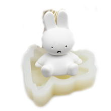 DIY mold small  rabbit shaped silicone mold cake turn sugar ultra light clay silicone mold
