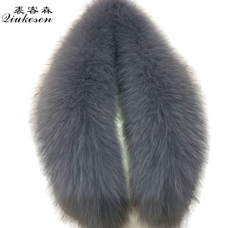 Suitable for men and women fur coat down jacket detachable easy to take care of fox leather collar
