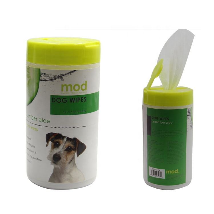 Private Label Brand Custom Pet Grooming Wipes, Puppy Wet Tissues Cleaning pet wipes for dogs