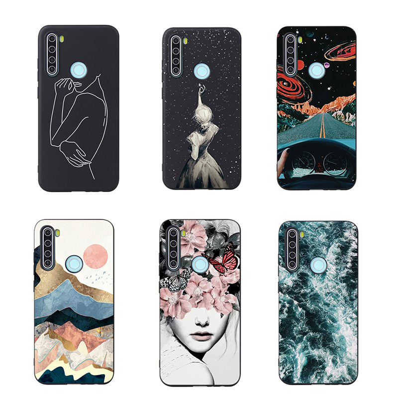 China wholesale shockproof TPU soft silicone nice pattern cute phone back case For Xiaomi Redmi note 8