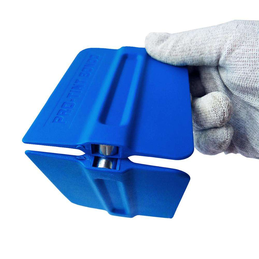pro tint bondo blue magnetic soft plastic window scraper squeegee tools for tint A35