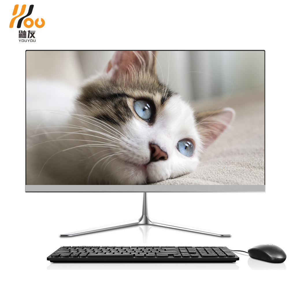 YOUYOU brand 21.5 /23.8 inch led screen gaming computer core i3 i5 i7 processor 16G RAM 480GB SSD aio pc