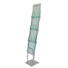 Portable Brochure Holder Catalogue Stand  Foldable Brochure Holder Catalogue Shelf  Foldable Iron Literature Holder