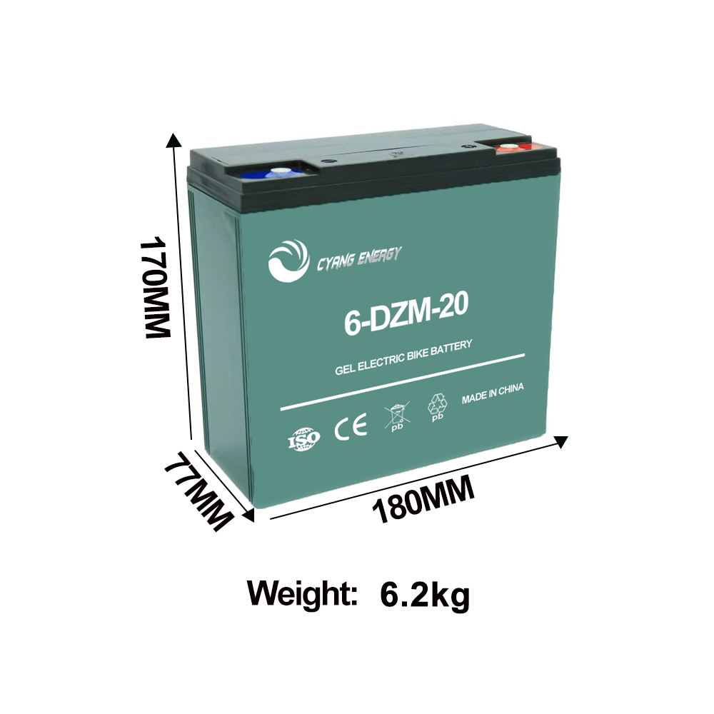 Hot sale 12v24ah 12v20ah rechargeable gel lead acid battery for electric bike/bicycles/Scooter/Vehicles