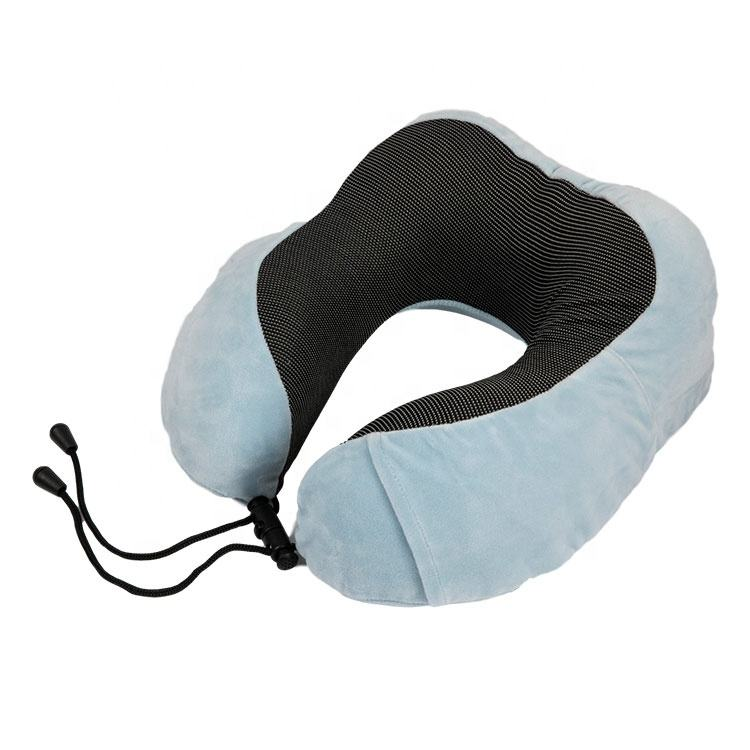Eco Friendly Comfort Soft Neck Support U Shape Memory Foam Travel Pillow for Airplane