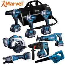 MARVEL Performer Reversable 40Nm CE GS ROHS Certificates 10mm 1.3Ah 1.5Ah 2.0Ah 16.8V cordless combo drill kit