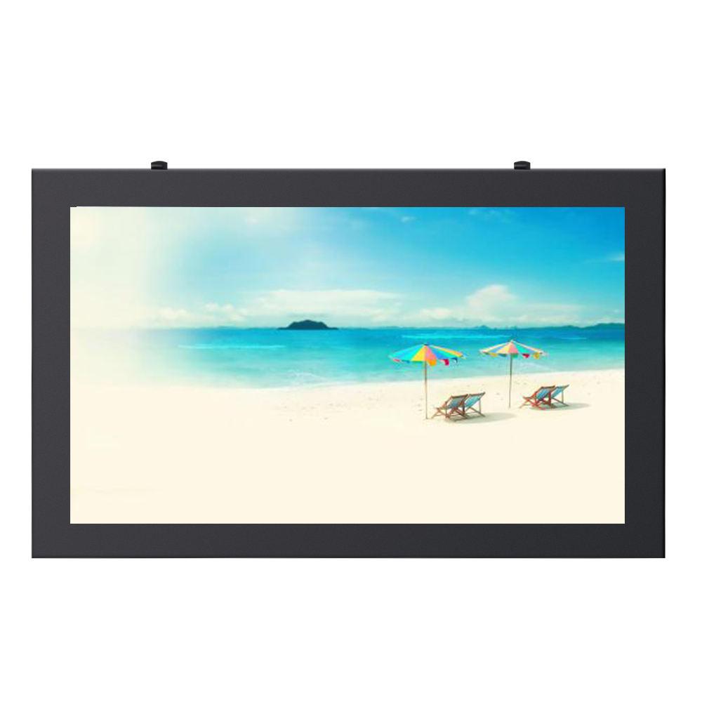 Impermeabile Sole leggibile pubblicità esterna display <span class=keywords><strong>LCD</strong></span> 55 pollici a parete dello schermo di tocco di chiosco con IP65 Certificazione