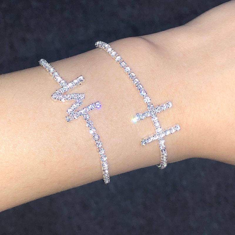 26 Letter Initial Ankle Bracelet Diamond Anklet Jewelry Women Silver Plated Bracelet Antique Foot Jewelry Anklets Capital Design