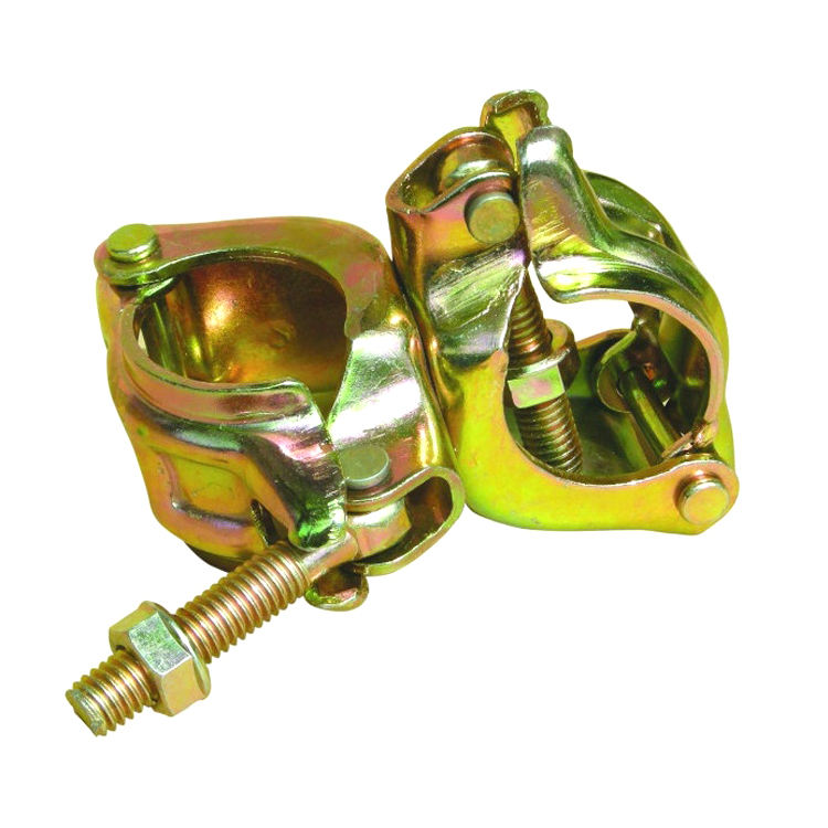 double clamp scaffolding coupler/crossed fastener swivel scaffold coupler for scaffolding