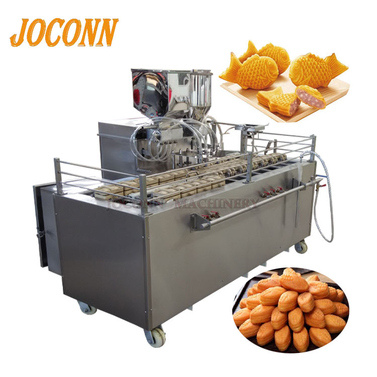automatic taiyaki cake making machine/ corn pine walnut cream cake filling baking machine/ manju fun cake maker machine on sale