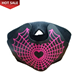New festival props Christmas cosplay sound activated masquerade el panel mask party flashing led mask for bar