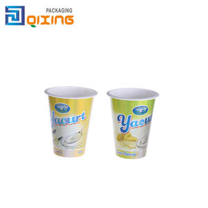 wholesale plastic yogurt cup with lid