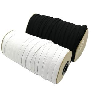 10MM Webbing WHITE AND BLACK Elastic Bands Tape Spool Sewing Band Flat Cord for garment accessories
