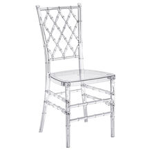 wholesale clear plastic resin chivari tiffany transparent wedding chair