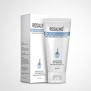 Rosalind professional wholesale new arrival 60g painless natural depilatory cream unique body hair removal cream for women men