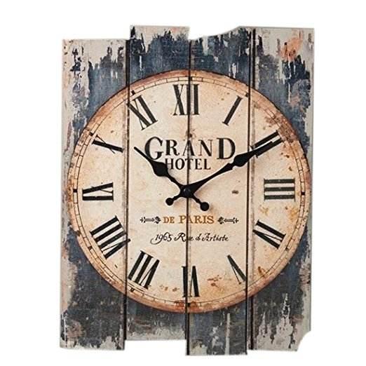 En forme de rectangle En Bois <span class=keywords><strong>Horloge</strong></span> Murale