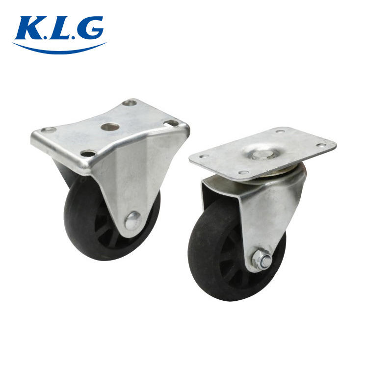 Excellent Quality commercial 3 inch steel swivel and rigid heavy duty caster wheels
