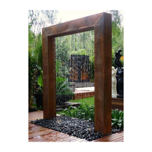 Custom Outdoor landscape stainless steel and corten sheet Fountains artificial  waterfall For Landscaping