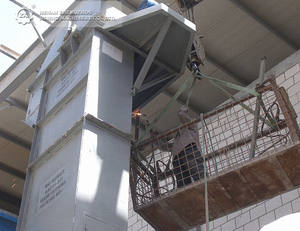 China Conveyor Equipment Chain Bucket Elevator for Cement Limestone