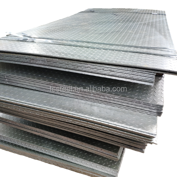 High Quality Hot Rolled Galvanized Checkered Coil Checkered steel plate Ms checkered Sheet