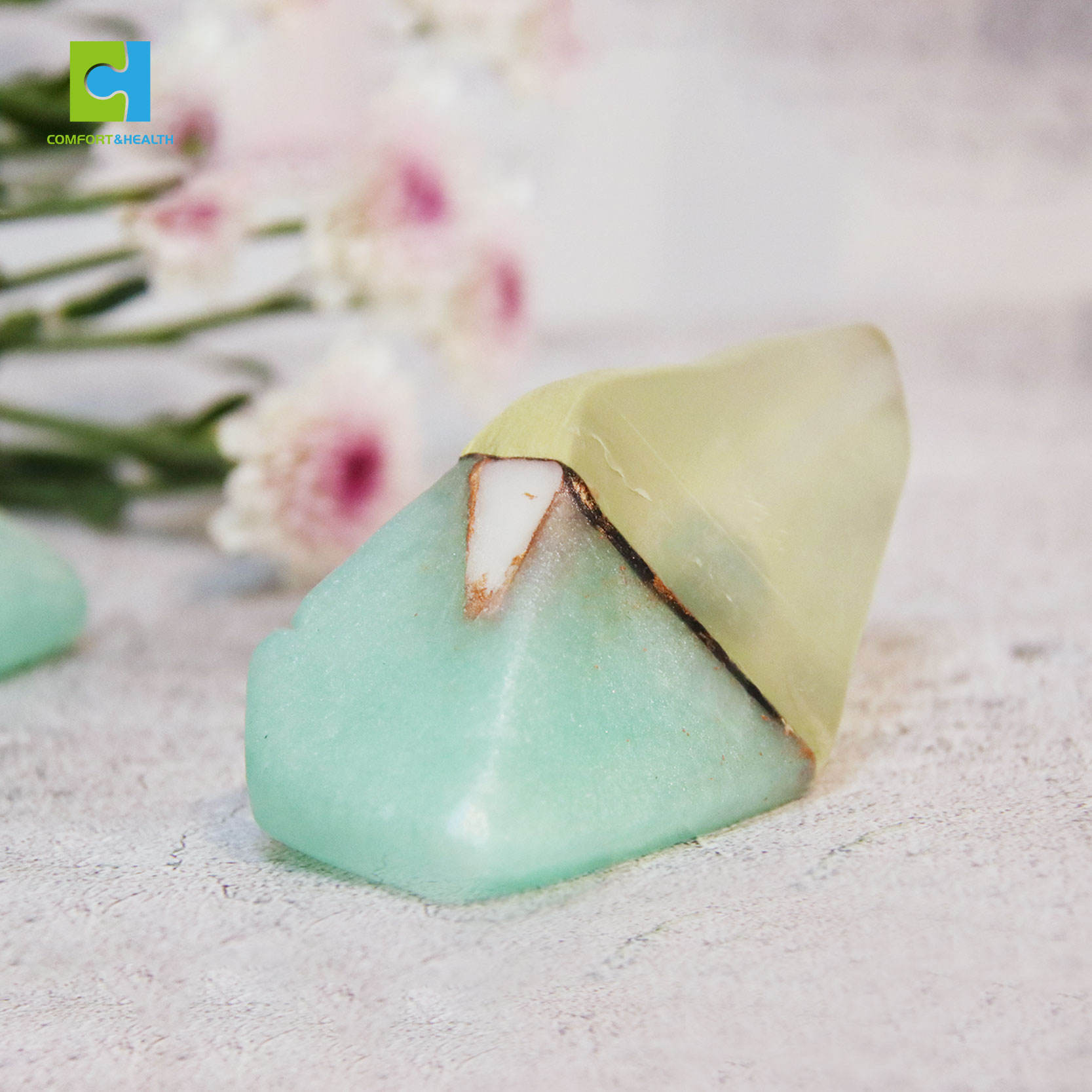 Flower Scented Natural Private Label Whitening Moisturizing Crystal Soap