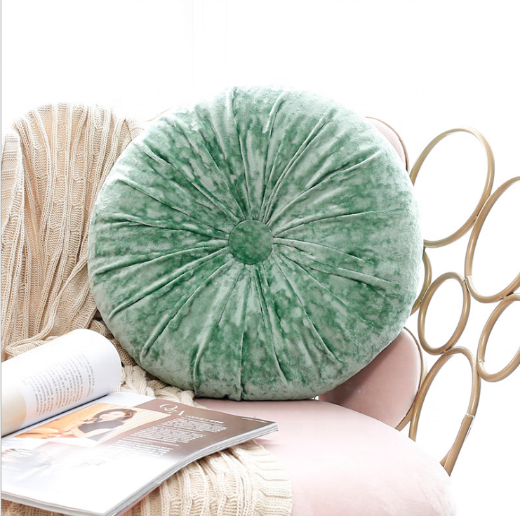 The little pumpkin round throw pillow Ice flannelette office seat chair cushion