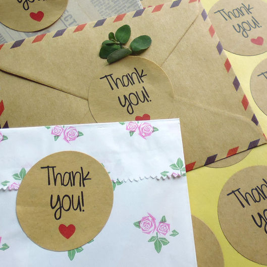 Myway Custom Label Thank you Stickers Logo Stickers for Decoration Gift