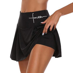 Ladies Letter Print Sports Culottes High Waist Summer Fitness Shorts Casual Hip Lifting Shorts Running yoga tennis Shorts