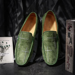 Classic Cheap Men Soft Moccasin Driving Loafers Suede Leathe