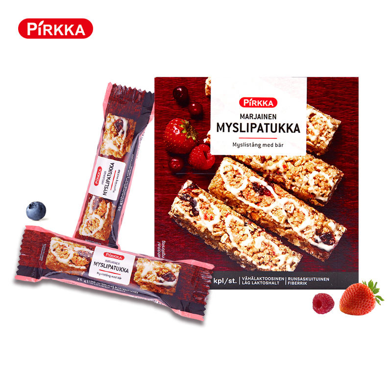 PIRKKA Most popular Strawberry Nut Yogurt oat stick energy Cereal grain Bar 150G