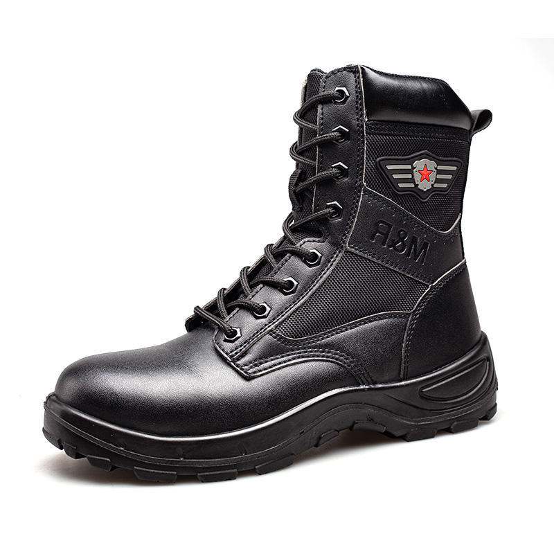 Winter labor protection shoes male anti-hit anti-piercing high-top cotton shoes and plush work shoes male