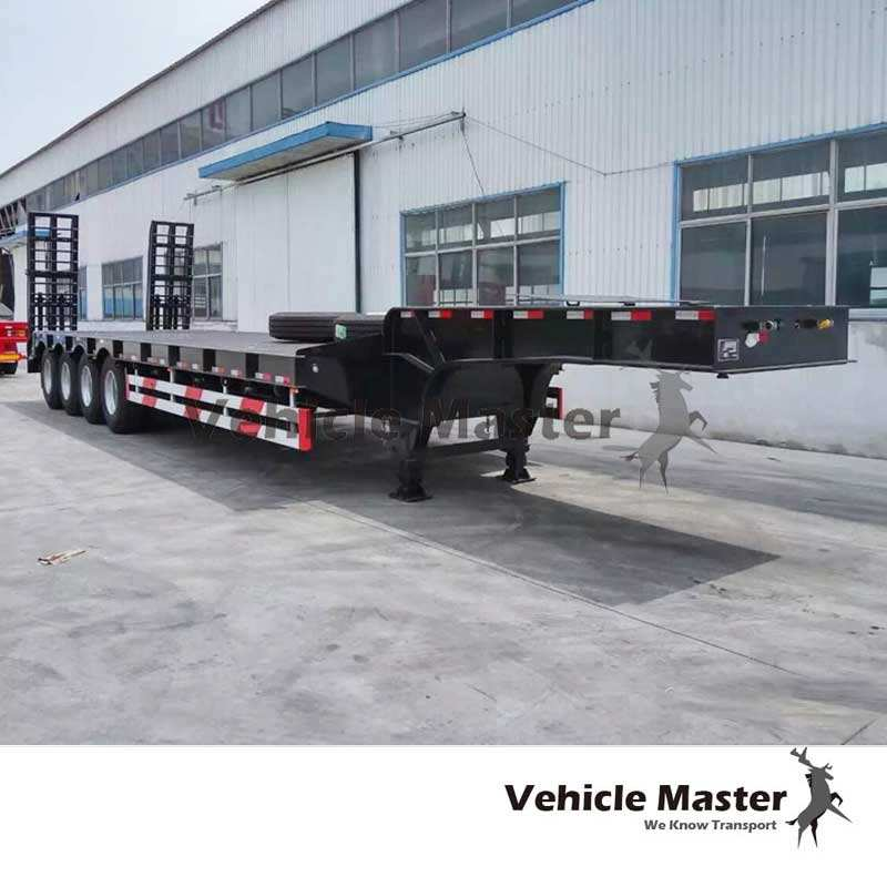 Vehicle Master price low bed semi truck trailer